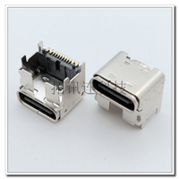 USB TYPE CF加高款母座 板上16PIN SMT垫高4.3MM 带定位柱