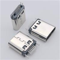 手机转接头USB 3.1 TYPE C/F母头 16PIN夹板0.8 无叉脚