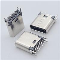 USB 3.1 TYPE C/F 24P 夹板0.8 长度9.3/10.5鱼叉脚