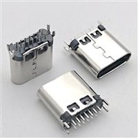 USB C TYPE 14P夹板式0.8/1.0/1.2母座 鱼叉脚 L8.6长