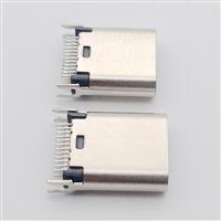 转接头专用USB 3.1 TYPE C/F鱼叉脚夹板0.8母头 L9.3长度