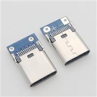 加工带板USB 3.1 C/F 24PIN母座 夹板式10.5长度 带焊板