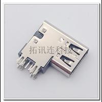 充电专用USB C-TYPE 6PIN简易接口侧插DIP 加高胶芯
