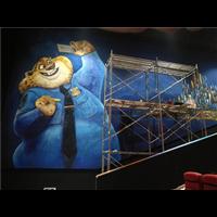 承接济南电影院墙绘;济南墙体彩绘墙绘