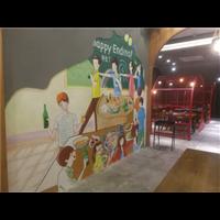 济南餐厅墙绘彩绘@济南星空美学艺术墙绘