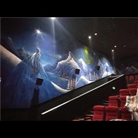 承接济南电影院墙绘;济南墙体彩绘墙绘1