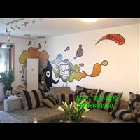 濟南手繪墻,家庭背景墻墻繪