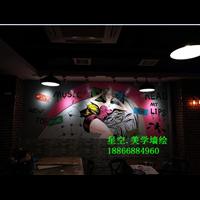 濟南酒店墻繪,濟南餐廳墻繪