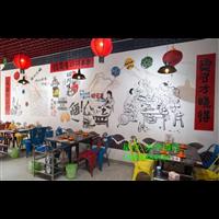 濟南酒店餐廳墻體彩繪