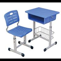 河北供应塑钢升降学习桌  学生课桌椅