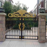 别墅围墙护栏平顶山市金属围墙大门定制设计