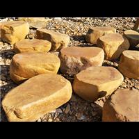 泉州自然风景原生黄蜡石踏步石汀步石台面石脚踏石