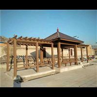 平顶山防腐木护栏1
