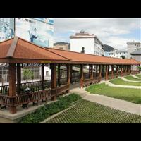 梅州防腐木长廊