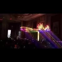 北京激光启动仪式:激光飞鹰,凤凰,飞马