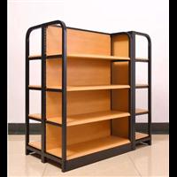 云南木纹商超货架钢木结构商超货架厂