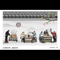 承接襄陽襄州區酒店餐廳墻繪彩繪……