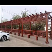 济南防腐木花架2