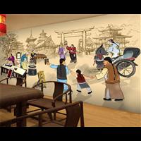 焦作文化墙墙绘