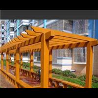 郑州防腐木花架12