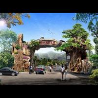主题公园直塑雕塑塑石假山-室内直塑假树