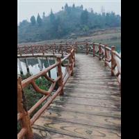 贵阳人行桥梁仿木护栏-贵阳仿木栏
