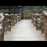 桂林仿木栏杆、钦州仿木凉亭、阳朔塑石假山