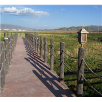 成都河道仿木护栏-德阳仿木栏杆