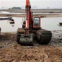红河水陆两栖挖掘机出租
