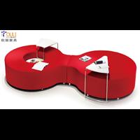真皮软体沙发1真皮商务沙发茶几1欧丽办公家具定制厂家