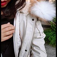 恋香风品牌女装专柜折扣獭兔毛派克服中长款收腰显瘦大衣