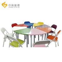 河南心理设备厂家6色8色团体活动桌椅