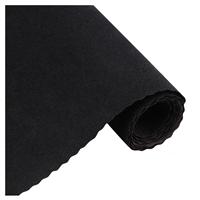 黑色针织长毛植绒布