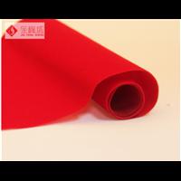 大红色单面无纺底植绒布对联剪纸大红植绒布
