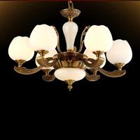 欧式全铜灯全铜仿云石灯全铜玻璃吊灯