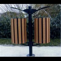 新疆钢木垃圾桶