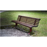 廊坊防腐木公园座椅