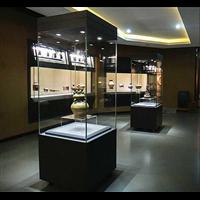 手动侧开门博物馆独立柜定制厂家方形独立博物馆展柜定做工厂