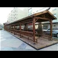 防腐木长廊安装