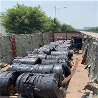 L现货直销桥梁用Q195黑退波纹管带钢配送到厂