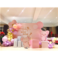 气球女宝宝宴装饰