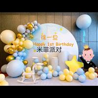 气球男宝宝宴装饰