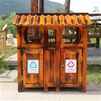 新疆防腐木垃圾箱