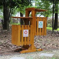 阿勒泰防腐木垃圾箱