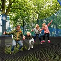 树上蹦床树上网兜树上绳网蹦床儿童攀爬网无动力绳网乐园设计安装