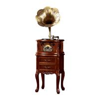 深圳欧蒂诺古典留声机纯铜大喇叭黑胶唱片机368