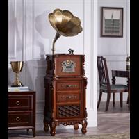 深圳厂家欧蒂诺仿古大喇叭留声机收音机黑胶唱片机