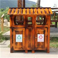 济南防腐木垃圾箱