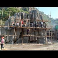 湖州仿木栏杆k徐州水泥塑石k宁波假山施工