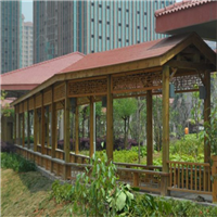 溫州防腐木木長廊設計